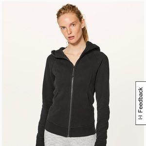 Black scuba hoodie